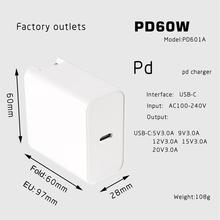 60W Quick Charge Type-C Wall Charger Power Delivery PD 30w+5V 2.4A Travel Charger for MacBook Pro Samsung Galaxy Note 9/ S9