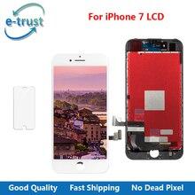 E-доверие отличное качество ЖК-дисплей для iPhone 7 г Дисплей с хорошим 3D Сенсорный экран планшета Ассамблеи Замена + закаленное Стекло
