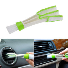 Car-styling tools cleaning Accessories Car Air Conditioner Vent Slit Cleaner Brush Instrumentation Dusting Blinds Cleaning Brush(China)