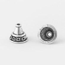 купить 20pcs Antique Silver Horn Funnel Shape End Beads Cap For Diy Jewelry Making Jewelry Findings Accessories по цене 260.03 рублей
