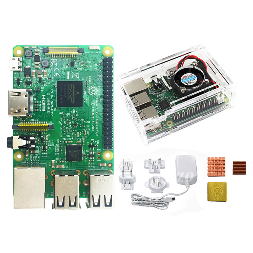 Raspberry Pi 3 Model B Board Kit 1GB LPDDR2 BCM2837 Quad Core Ras PI3 B Ras