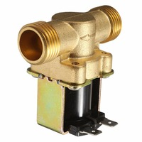 1pc Normally Closed Brass Electric Solenoid Valve 220V 1 2 2 Way Pressure Regulating Valve For