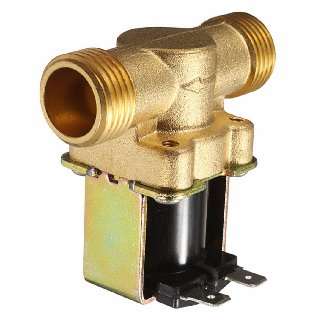 1pc Normally Closed Brass Electric Solenoid Valve 220V 1/2