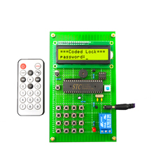 Infrared remote control electronic password lock design Wireless remote control code lock Electronic production kit