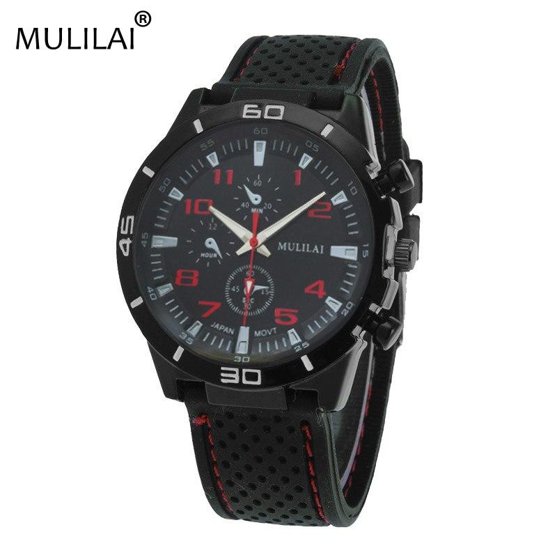 d8902294a7a8 Mulilai NUEVA ORIGINAL F1 Racing Sport reloj de Cuarzo de Moda Relojes De  Lujo para Hombres