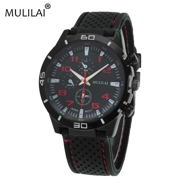 Mulilai ORIGINAL NOVO Moda Racing F1 relógio Do Esporte de Quartzo Relógios De Luxo para Homens com Silicone Strap Militar Do Exército relógios de Pulso