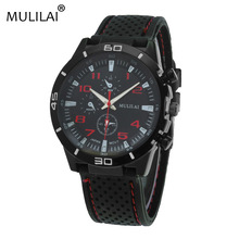 mulilai NEW ORIGINAL Fashion F1 Racing Sport watch Quartz Luxury  Watches for Men with Silicone Strap Military Army Wristwatches