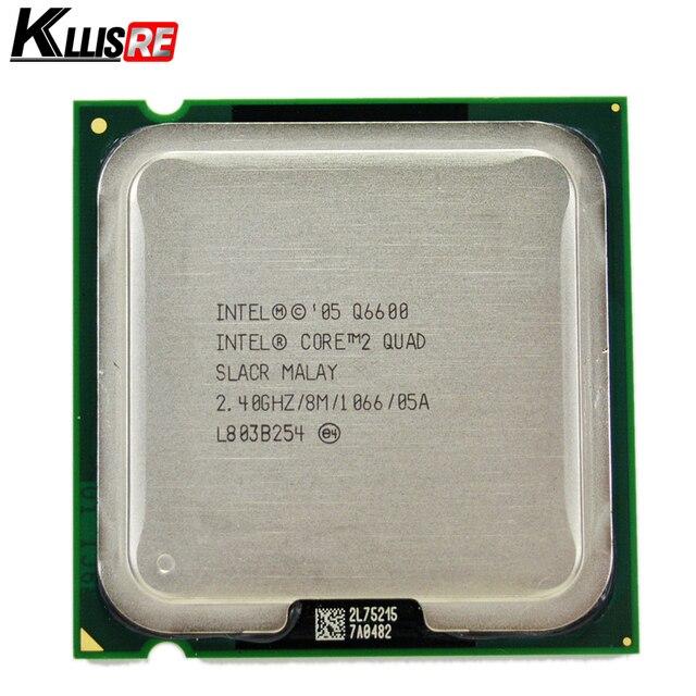 إنتل الأساسية 2 رباعية Q6600 2.4 GHz رباعية النواة FSB 1066 سطح المكتب LGA 775 معالج وحدة المعالجة المركزية