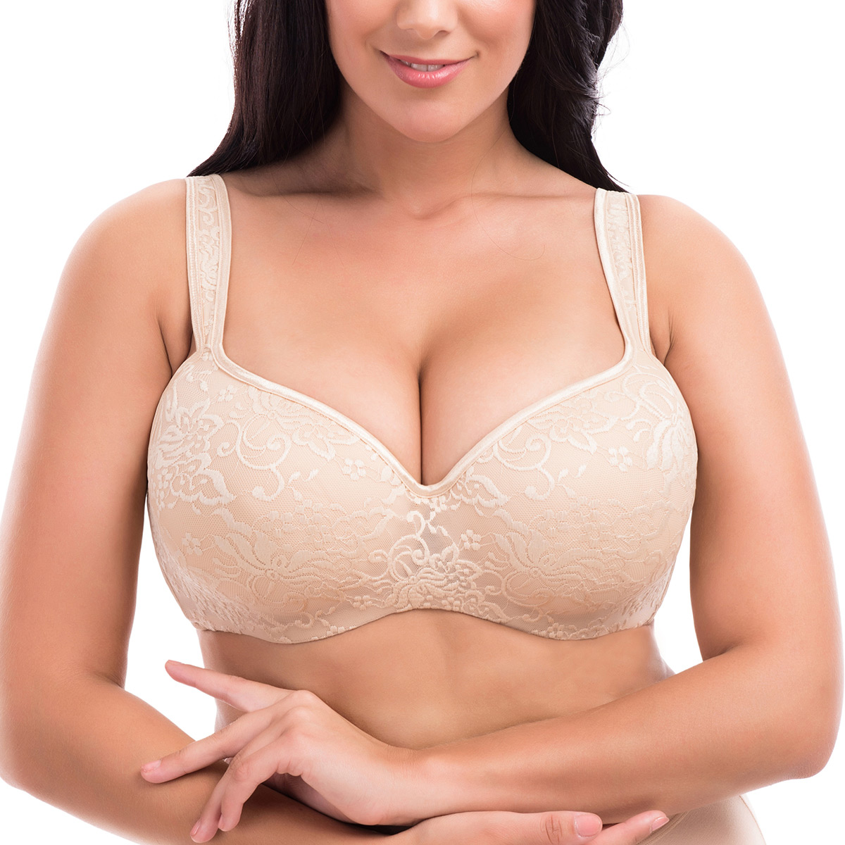 Full figure minimizer bra reduces bust size by one cup. Goddess Women's Plus Size Heather Underwire Banded Bra with Stretch Lace, by Goddess. $ - $ $ 28 $ 64 Prime. FREE Shipping on eligible orders. Some sizes/colors are Prime eligible. out of 5 stars