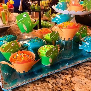 Image 5 - FENGRISE ダークグリーン動物風船ヤシの葉バルーン誕生日の子サファリパーティー風船装飾誕生日 Binosaur 風船