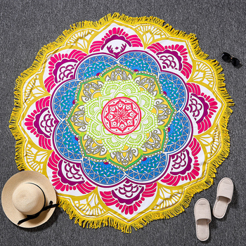 Indian Bohemian Mandalas Tapestry Totem Lotus Wall Hanging Sandy Beach Towels Yoga Mat Blanket Camping Mattress Sleeping Pad