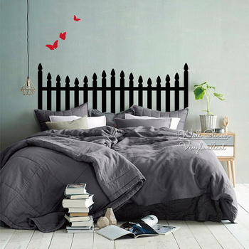 Headboard Wall Sticker Modern Headboard Wall Decal DIY Creative Wall Decor Bedroom Decor Home Improvement Cut Vinyl Sticker M62 2