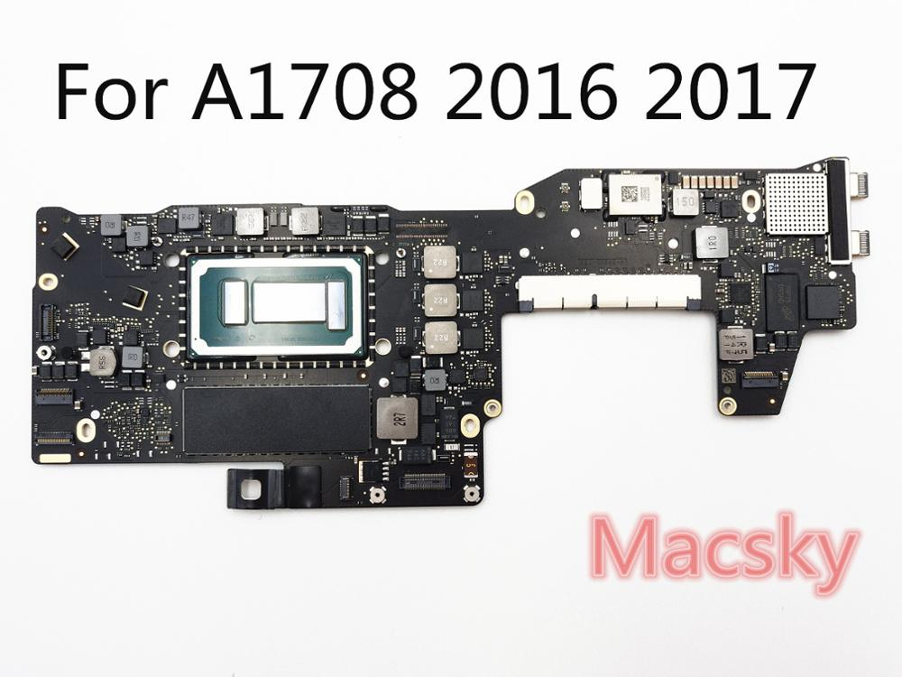Orignal i5 2.0Ghz 8G RAM i7 2.4GHz 16GB Logic Board for MacBook Pro 2016 2017 13 no Touch Bar A1708 Motherboard 820 00875 A