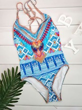 2017 New Bohemia Style One Piece Swimsuit Bathing Suit Swimwear Beachwear For Women Monokini