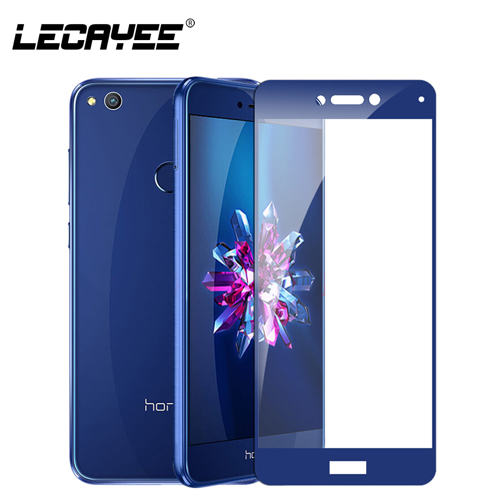 LECAYEE For Huawei Honor 9 8 Lite Screen Protector Full Coverage Tempered Glass For Huawei P8 P9 Lite 2017 Protective Glass 2.5D