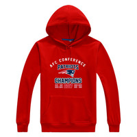 Patriots All AFC National Champions Tom Brady Men Sweashirt Women 2017 Championship New England Warm Hoodies