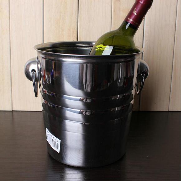 Stainless steel ice bucket ktv red wine ice bucket champagne beer ice pail Large wine ice