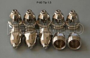 Image 3 - P80 قطع البلازما الهوائية شعلة المواد الاستهلاكية نصائح البلازما فوهات 1.5 مللي متر 100Amp أقطاب البلازما جودة قطع سكين 45PK