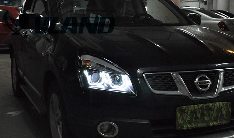 Free Shipping Vland Auto Headlight LED Headlamp for Qashqai 2008-2012 HID Xenon Lamp With LED Double U Daytime Running Light йес книпсер для ногтей в блистере арт 96652