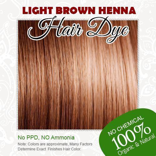 Cahaya Panas Brown Henna Pewarna Rambut 100 Organik Dan Bebas Kimia