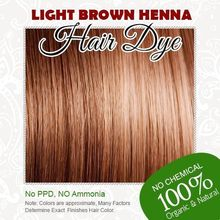 HOT Light Brown Henna Hair Dye 100% Organic and Chemical Free Henna for Hair Color Free Shipping(China)