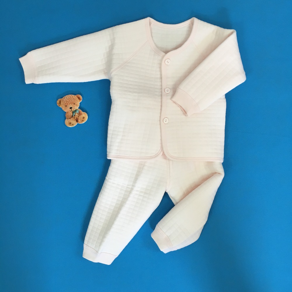 New 2016 Cotton Winter Suit Baby Girl Simple color