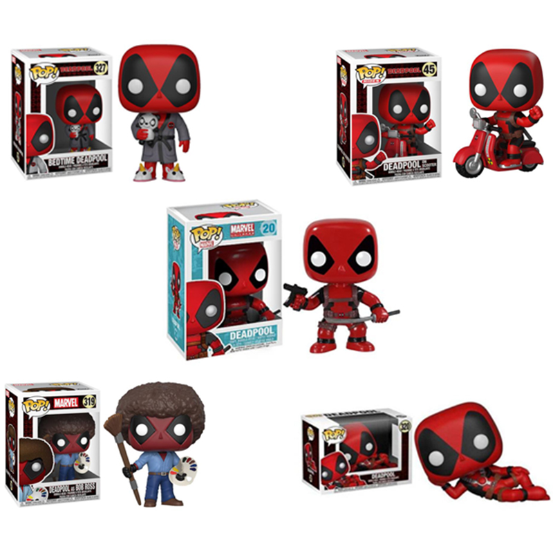 Funko POP Marvel Super Hero Deadpool Juguete Pvc Action Figure Toys For Friend Children Birthday Christmas Gifts Collection 2F07