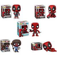 Funko POP Marvel Super héroe Deadpool Juguete Pvc figura de acción juguetes para amigos niños cumpleaños Regalos Navidad colección 2F07