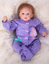 где купить Reborn Baby Doll 3/4 Silicone Vinyl +cloth body Lifelike Toddler Baby Bonecas Girl Kid Bebe Reborn Dolls plush Toys on Xmas  BJD по лучшей цене