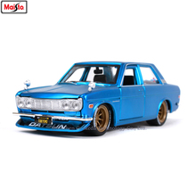 Maisto 1:24 Nissan1971 DATSUN 510 simulation alloy car model crafts decoration collection toy tools gift maisto 1 24 1969 shelby 427 simulation alloy car model crafts decoration collection toy tools gift