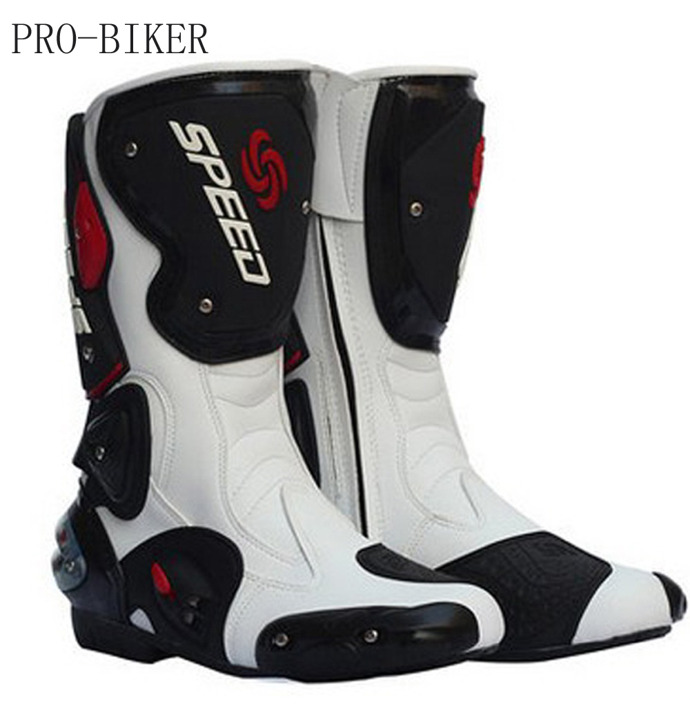 2018 new leather motorcycle boots Pro -Biker SPEED Racing And calves long boots high quality for riding men women shoes B1001