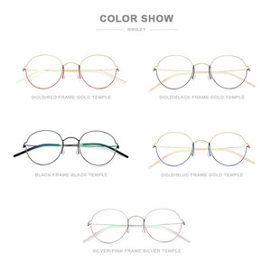 Image 5 - FONEX Titan Legierung Optische Gläser Männer Brillen Rahmen Koreanische Dänemark Frauen Myopie Schraubenlose Brillen 98621