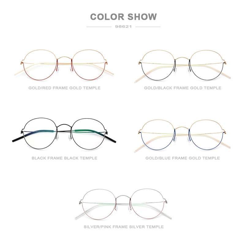 Image 5 - FONEX Titanium Alloy Optical Glasses Men Prescription Eyeglasses Frame Korean Denmark Women Myopia Screwless Eyewear 98621-in Men's Eyewear Frames from Apparel Accessories