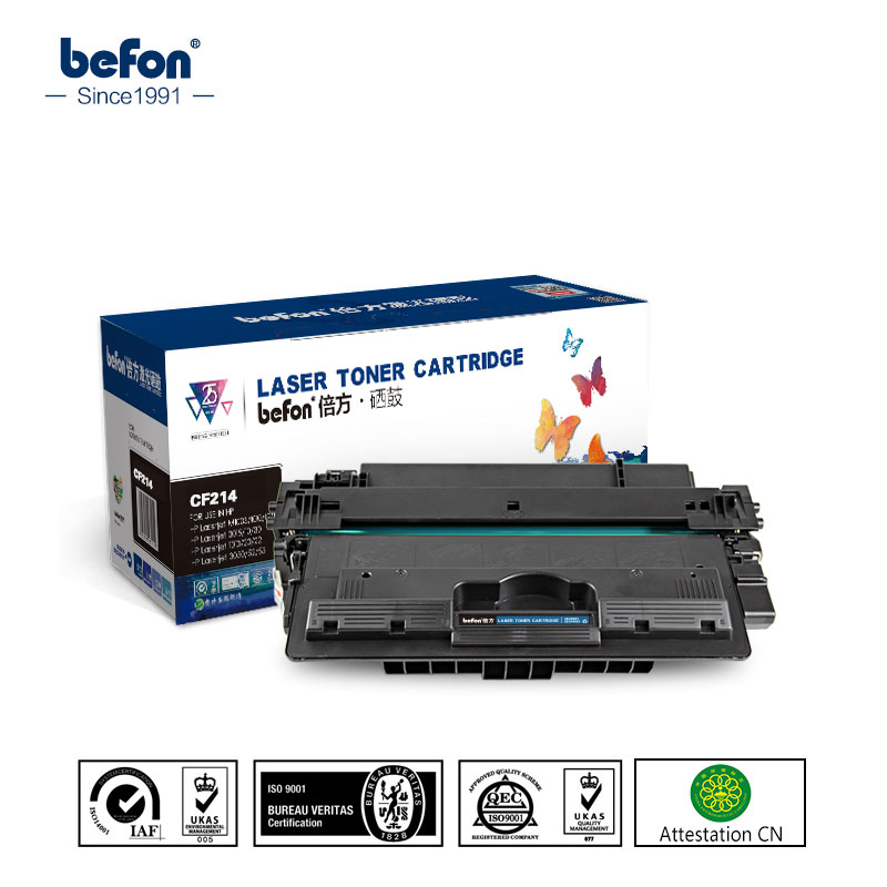 befon CF214A CF214 214A 214 Toner Cartridges Compatible for HP LaserJet Enteprise hp700 M712dn M725dn M725F 725Z hp 14A 2x non oem toner cartridges compatible for oki b401 b401dn mb441 mb451 44992402 44992401 2500pages free shipping