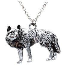 Occident Vintage Retro Men Silver Wolf Long Chain Charm Necklace Pendant Jewelry