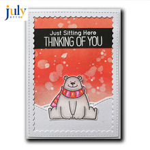 Julyarts Clear Stamps with Dies Scrapbooking Nouveau Arrivage Cute Paper Bear Cutting Stencil Sets