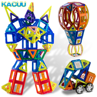 150PCS Big Size Constructions Magnetic Blocks Building 3D DIY Toy with Animal & Car styling Educational Game Toys For Children