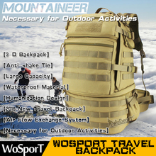 WOSPORT 2016 New Travel Mountaineering Backpack Outdoor Tactical Large Capability 3P Nylon Bag Hunting Climbing Hiking
