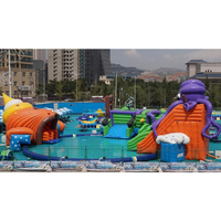 2018 Hot selling commercial outdoor giant inflatable water park for land