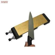 DMD, блестящий двухсторонний 400 и 1000 гритс титановый камень для заточки ножей с размером 200*70*8 мм точильный камень с держателем