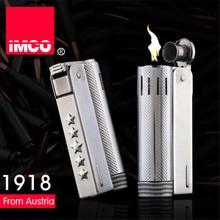 العلامة التجارية IMCO 5 نجوم أخف وزنا الفولاذ المقاوم للصدأ الأصلي النفط البنزين ولاعة السجائر النار ريترو البنزين هدية ولاعات