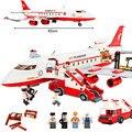NUEVA GUDI 8913 Ciudad Avión de Aire Avión de Pasajeros Grande Bloque de Construcción 856 Unids Ladrillos Juguetes Compatible Con Legoe