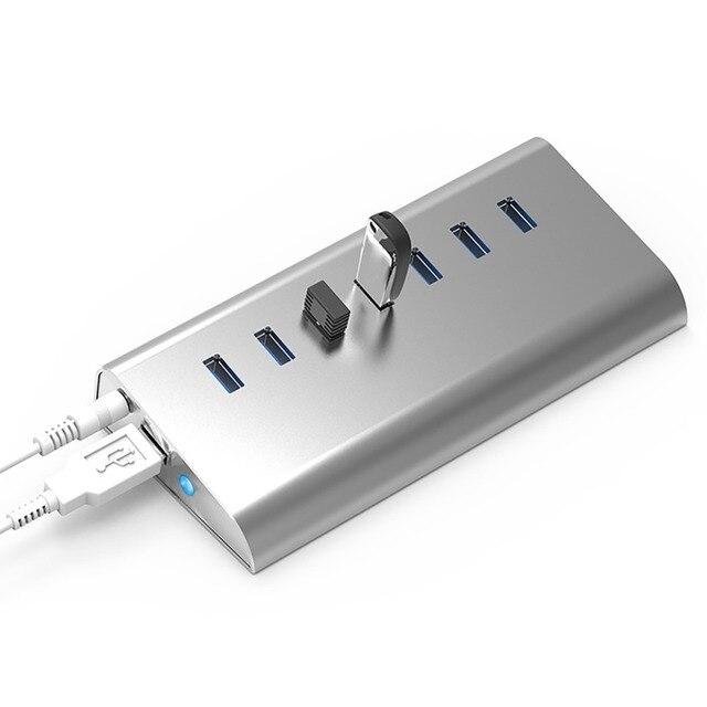 Blueendless Micro USB hub Разветвитель 7 Порта Высокая Скорость 5 Гбит USB 3.0 Компактный Концентратор USB Разветвитель Адаптер usb порт для Компьютера