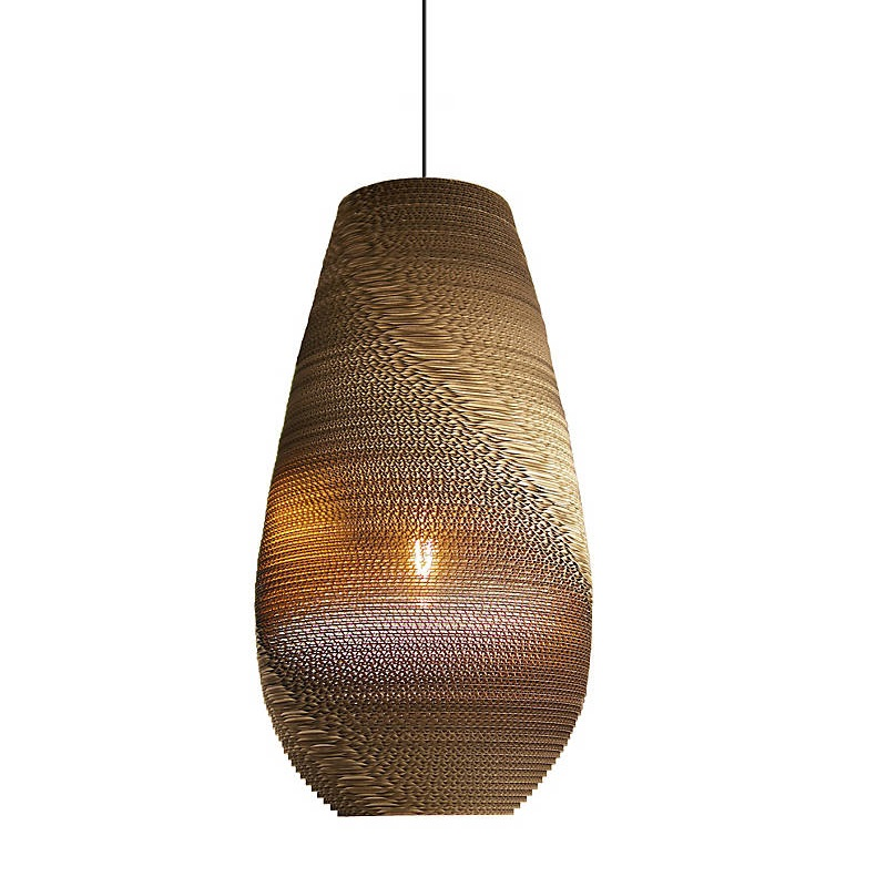 Long Oval Pendant Lights Brown Paper Pendant Lamp Tiffany