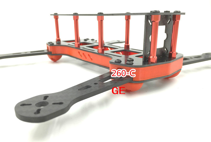 new version DIY GE260-C racing quadcopter color frame unassembled 260mm Wheelbase carbon fiber for DIY FPV mini drone diy fpv mini drone qav210 zmr210 race quadcopter full carbon frame kit naze32 emax 2204ii kv2300 motor bl12a esc run with 4s