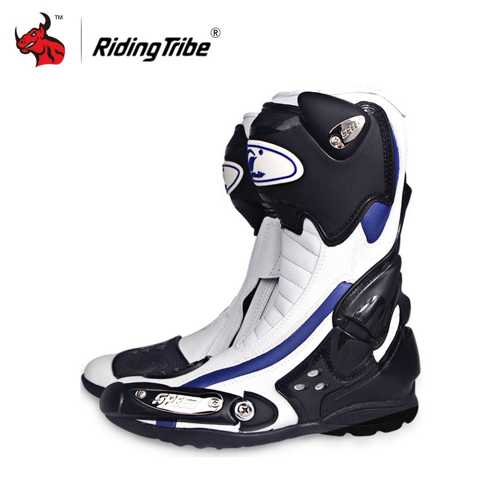 Équitation Tribu Vitesse Moto Bottes Sports de Plein Air Racing Chaussures Bottes Motocross Off-Road Moto Bottes