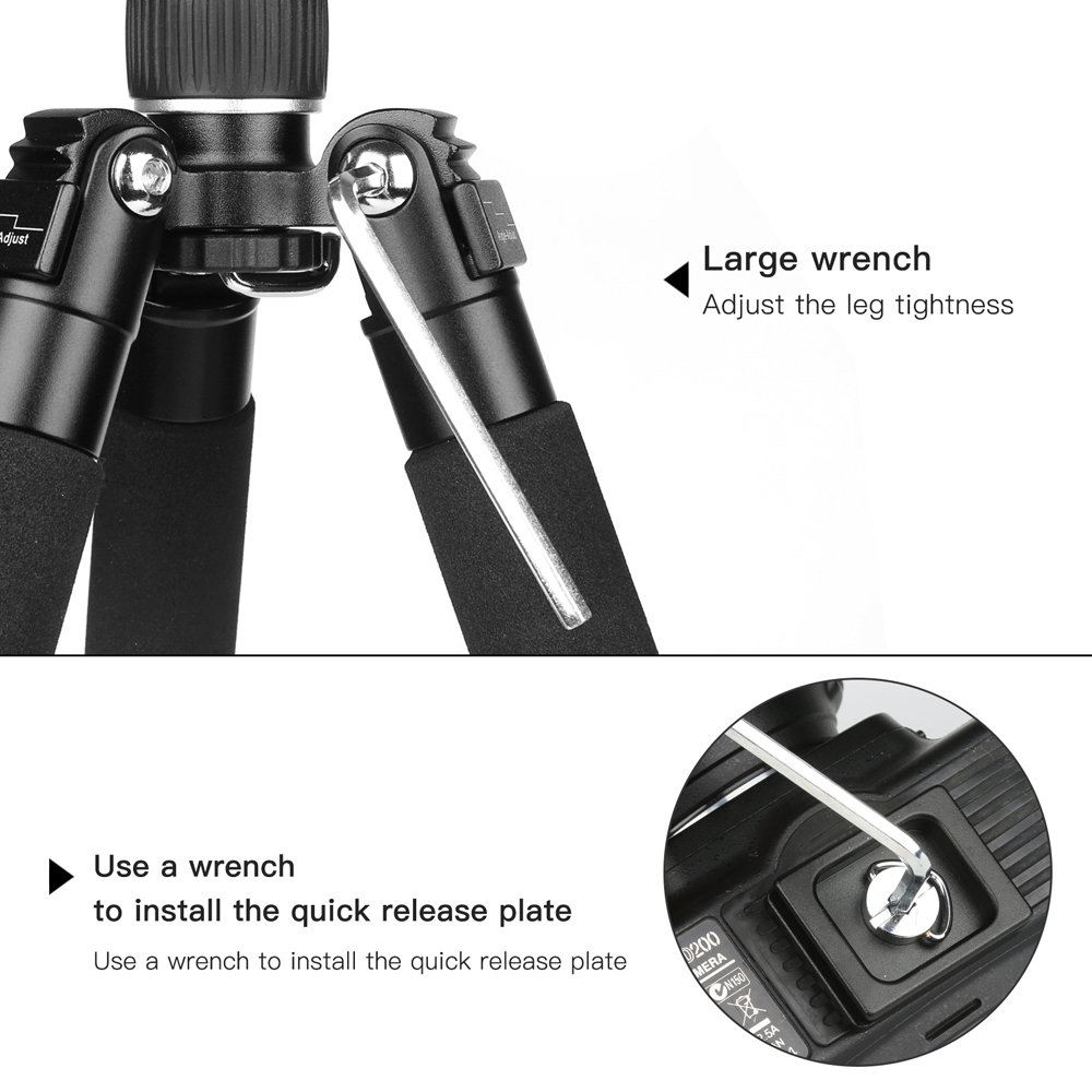 SHOOT Lightweight Mini Camera Tripod Compact Aluminum Desktop Tripod With Ball Head For Canon Nikon DSLR Camera Accessories