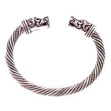 Misheng 2019 Trend Mens Viking Bracelet Silver Retro Dog Head Opening Brand Bangle Wrist Jewelry Accessories Gift