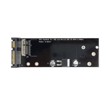 Jimier PCBA 17+7pin SSD HDD to SATA 22Pin Hard Disk Cartridge Drive for Laptop Air Pro MD223 MD224 MD231 MD232 SSD jimier cf compact flash merory card to laptop 2 5 44 pins male ide hard disk drive hdd ssd adapter
