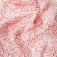 Escritos de la manera para las mujeres sujetador accesorios de tela de encaje 2017 soft hollow flores camisetas faldas largas de tela hecha a mano de la cortina de costura